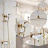 Zxy Home Bad ZXY eine dritte dusche europa kupfer hand shower dusche bad gesetzt