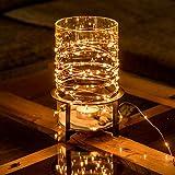 CozyHome Kupferdraht 100er LED Lichterkette für innen und außen | 12 Meter Gesamtlänge | 100 LEDs warm-weiß - kein lästiges austauschen der Batterien | NICHT batterie-betrieben sondern mit Netzstecker
