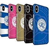 Offiziell Queens Park Rangers FC Hülle / Matte Snap-On Case für Apple iPhone X/10 / Pack 11pcs Muster / QPR Fußball Crest Kollektion