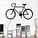 Chellonm Wandtattoo Vinyl Pvc Aufkleber Fahrrad Wandaufkleber Wohnzimmer Fahrrad Silhouette KinderzimmerWohnkultur 99 * 55 Cm