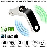 Transmetteur FM de Voiture, Diadia G7sans Fil Mains Libres USB Charge auxiliaire Modulateur kit Voiture LED MP3Bluetooth de Voiture Transmetteur FM (5V/2.5a)