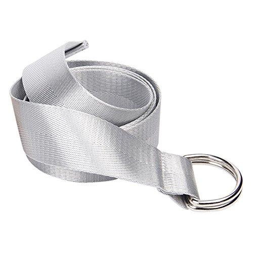 Milopon Cinturón de Mujer de Tela Cinturón de Entrelazado Cinturón para Libre Ajustable Jeans Cinturón V6D310Z con Hebilla metálica 130-150cm Plateado Plata