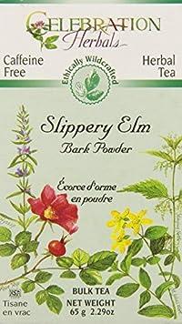 Celebration Herbals Slippery Elm Bark Powder Bulk Tea Caffeine Free -- 65 grams