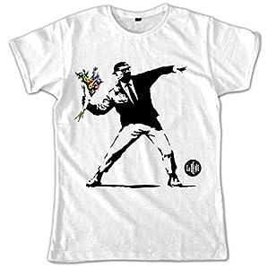 Video Delta-Le Iene Color Banksy Camiseta, Para hombre, de talla XL