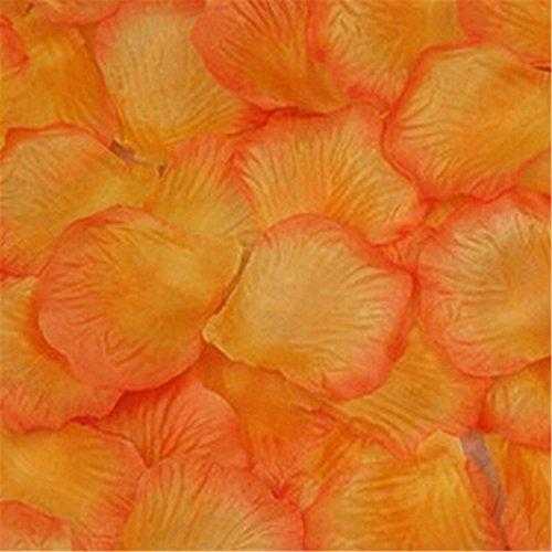 Viskey Mariage Fête décoré pétales, Orange