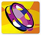 Drempad Gaming Mauspads, Tambourine Mouse Pad, Jingles Musical Traditional Oriental Instrument in Modern Abstract Boho Design, Standard Size Rectangle Non-Slip Rubber Mousepad, Multicolor