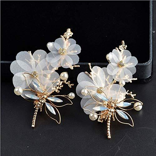 Fliyeong Der Ehe Dragonfly Jewelry Alloy Schöne Perle Haarnadel -