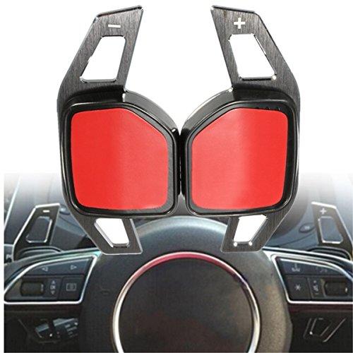 GOZAR Pagaie D'Extension De Roue en Acier De Changement De Vitesse De Voiture pour Audi A1 A3 A4 A6 A7 A8 Q5 Q7