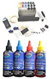 #4: GoColor Empty Continuous Ink Tank Supply System CISS Kit Compatible for Canon Inkjet Printer + 70 ML Refill Dye ink