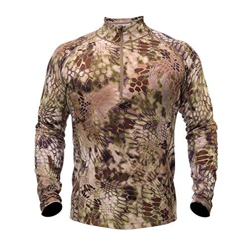 Kryptek Herren Hoplite II Merinowolle, schwer, 1/2 Reißverschluss, langärmlig, Camouflage, Unisex-Erwachsene, Highlander, XXX-Large Camo Thermal Sweatshirt