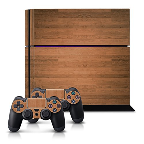 kwmobile-set-adesivi-sticker-per-playstation-4-consolle-e-2-controller-design-venatura-legno