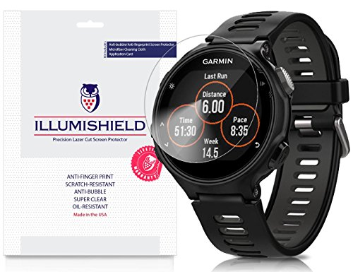 garmin-forerunner-735xt-screen-protector-3-pack-illumishield-japanese-ultra-clear-hd-film-with-anti-