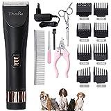 Domipet - Cortapelos para Perros y Gatos, cortapelos para Mascotas, cortapelos Profesional silencioso, Recargable, recortador de Pelo para Mascotas