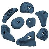 8 Henkel Klettergriffe Strong für leicht bis stark überhängendes Gelände, Farbe:blau-meliert