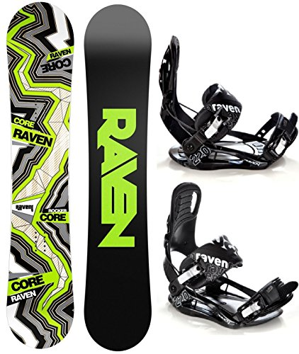 Snowboard Set: Snowboard Raven Core Carbon Rocker + Bindung Raven s220 Black XL