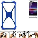 K-S-Trade Handyhülle für Huawei Y3 II Dual-SIM Silikon Schutz Hülle Cover Case Bumper Silikoncase TPU Softcase Schutzhülle Smartphone Stoßschutz, blau (1x)