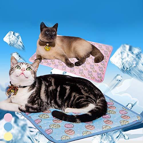 IVYSHION Tappetino Rinfrescante per Animali Cane Gatto Tappetino Fresco Refrigerante per Animali Domestici Cuscino per Cani Pet Caldo Estivo Ghiaccio Silvery Pet Mat in Estate