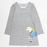 JERFER Baby Kleinkind-Mädchen Langarm Herbst Karikatur Prinzessin T-Shirt Kleid 2-6T (A, 4T)