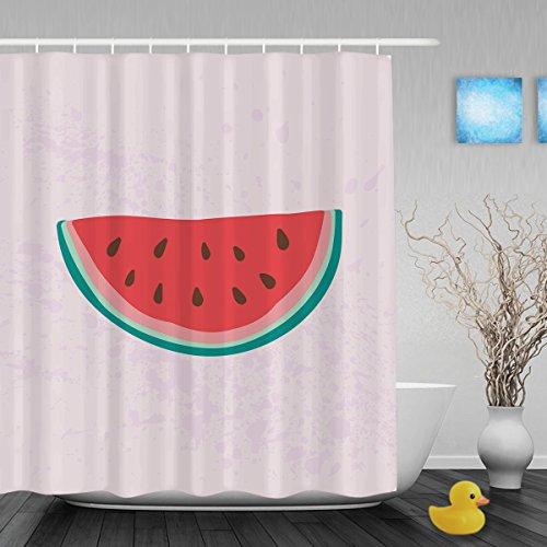 51MMsaukDdL BEST BUY UK #1Hello Summer Cute Watermelon DecorBathrrom Shower Curtain Seasonal Summer Holiday Design Shower Curtain Waterproof Mildewproof Polyester Fabric 72X80Inch price Reviews uk
