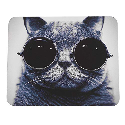 Elviray Stilvolle Katze Muster Anti-Rutsch Laptop PC Mauspad Matte Mousepad für optische Laser-Maus Komfortables Nette Gaming-Maus-Pad