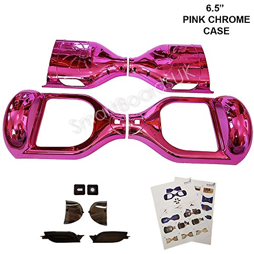"6,5 ""Hoverboard Kunststoff Chrom und Design Shell - Swegway Shell 6,5 Zoll Rahmen 2 Rad Smart Balance Scooter Plastics (CHROM PINK)"