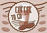 Verkaufsschild Coffee to go A4 Rückseite selbstklebend