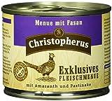 Christopherus Alleinfutter für Hunde, Nassfutter, Gluten- und getreidefrei, Ziege/ Kartoffel/ Karotte, Exklusives Fleischmenü 6 x 200 g