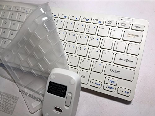 White Wireless MINI Keyboard   Mouse Set for LG 47LA6200 3D Smart Television TV