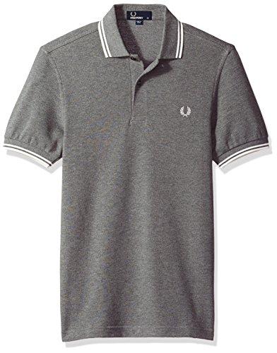 Fred Perry Herren Poloshirt Fp Twin Tipped Fred Perry, Blau Multicolore (Greymrl/Snwwht)