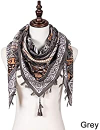Dark Area Foulard Boho pour femme - Châles Bohemia Gland Wrap Coton Echarpes  Pashmina - Châle 4170fcf4cc5