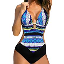 aac9eadb93 DAY8 maillot de bain femme 1 pieces push up Elegant Amincissant Vintage  bikini bandeau bresilien trikini