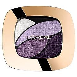 L'Oréal Paris Color Riche Quads Eyeshadow, E7 Lilas Cheri - Lidschatten Palette für ein intensives, sinnliches Farbergebnis - 1er Pack (1 x 2,5g)