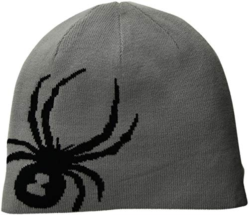 Spyder Herren Reversible Innsbruck Hat Cold Weather, Herren, 185100, Black/Alloy, Einheitsgröße | 00191839092660