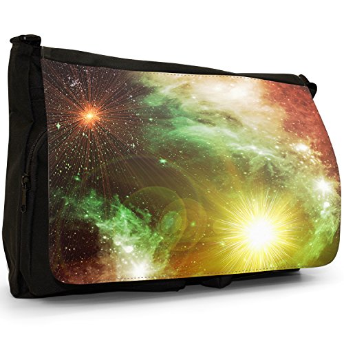 Esplorazione Spaziale–Borsa Tracolla Tela Nera Grande Scuola/Borsa Per Laptop Stars Of A Planet