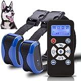 [2018 nouvelle version] Anti-aboiement Collier dressage chien avancé chien Stop aboiement 7 niveaux de sensibilité rechargeables collier d'entraînement chien s'arrête de façon fiable chiens aboiements