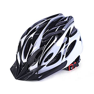 Leoie Unisex Ultralight Bicycle Helmet Integrated Molding Breathable Adjustable Motorbike Cycling Safety Helmet for Men Women F from Leoie