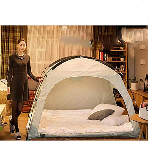 HEXbaby Luxury Pop Up Mosquito Net Tent, Large for Twin to King Size Bed, Finest, Canopy, Insect Screen, Folding Design with Bottom, 2 Entries, Easy to Install,200 * 120 * 135cm