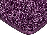 Floori Shaggy Hochflor Teppich - 200x290cm - moderner Wohnzimmerteppich - berry