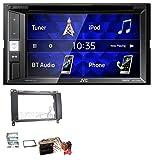 caraudio24 JVC KW-V250BT 2DIN CD DVD USB Bluetooth MP3 Autoradio für Mercedes A-Klasse W169 C169