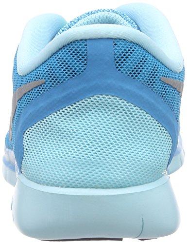 Nike Free 5.0 (Gs), Chaussures de course mixte enfant Bleu - Blau (Bl Lgn/Mtllc Slvr-Mdnght Nvy-C 404)