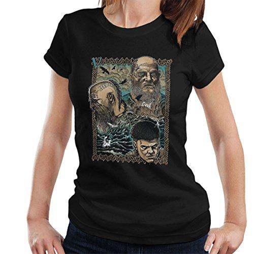 Vikings Legacy Love Legend Boja Women's T-Shirt Black