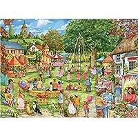 Otter House 1000 Piece Rectangular Jigsaw - Village Fete