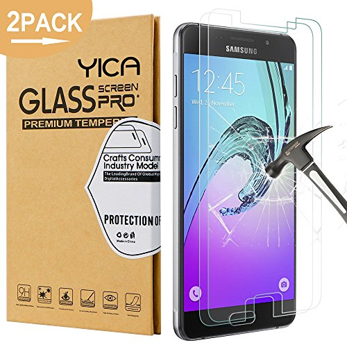 2 Stück Samsung Galaxy A5 2016 Glas Folie Schutzfolie Glas Panzerfolie Displayschutzfolie,9H Hartglas Glasfolie Displayschutzglas Display Folie Screen Protector für Samsung Galaxy A5 (2016)