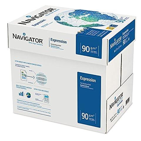 Navigator Expression A490g/m² haute qualité extra lisse et épais Blanc Lumineux Boîte de papier, 2500feuilles