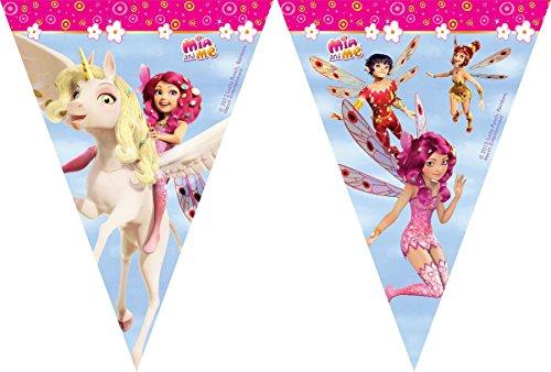 2,3m Wimpelkette * MIA AND ME * für Kindergeburtstag oder Motto-Party // Kinder Geburtstag Plastic Flag Banner Abenteuer in Centopia Pony Einhorn (Pony Flag)