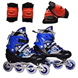 #10: Hipkoo STERLING SHIELD INLINE SKATE AND PROTECTIVE SET 2 In-line Skates - Size 39-42 Euro Euro (Multicolor)