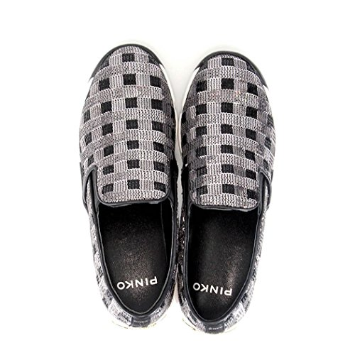 Scarpe Donna Sneakers Slip On PINKO 1H208D Sequins1 ZZF Silver Shine Baby Shine Silver