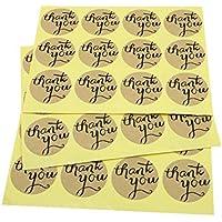 120 PCS Round Thank You Sticker, 3.5 cm Etiquetas engomadas del sello del sobre para Favor de la boda Tarjeta de agradecimiento, Empaquetado del regalo de DIY