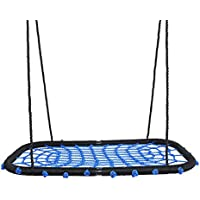 Kids Nest Swing Seat Web Spider With Hanging Ropes 200kg Load