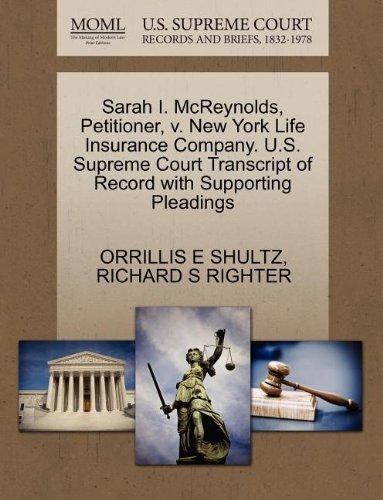 sarah-i-mcreynolds-petitioner-v-new-york-life-insurance-company-us-supreme-court-transcript-of-recor